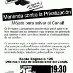 Merienda contra la privatización del Canal de Isabel II