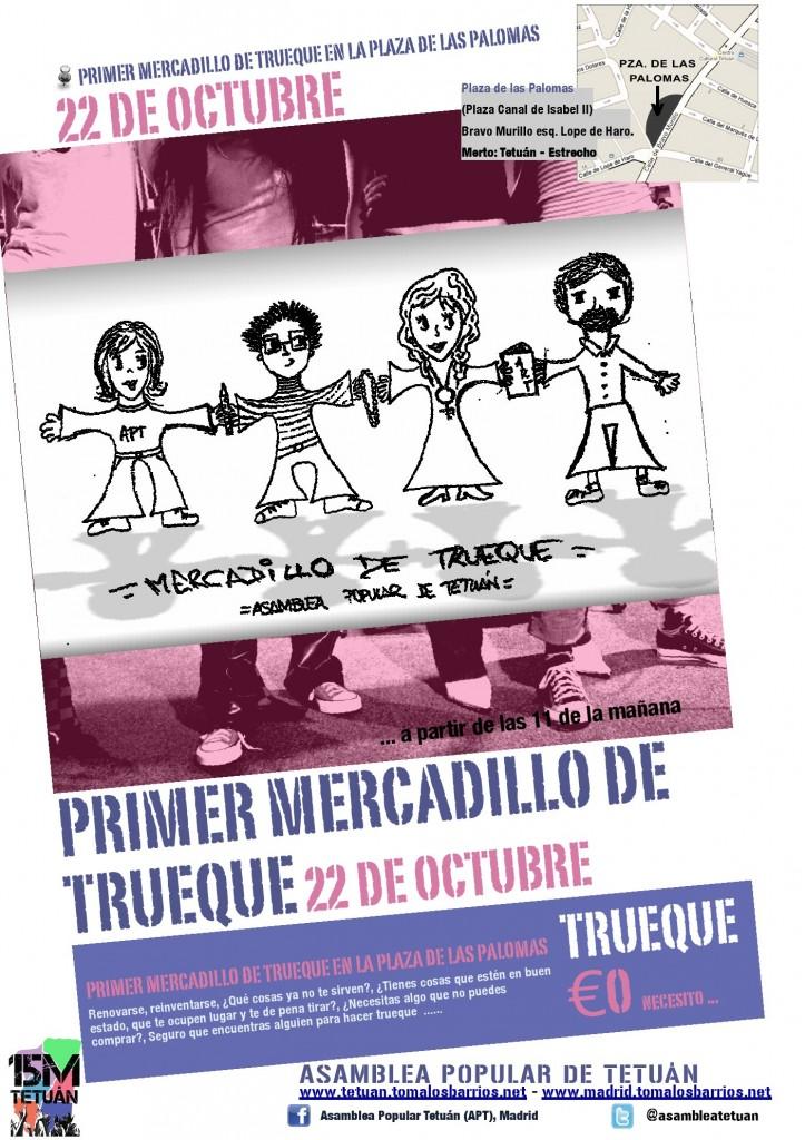 Cartel Mercadillo de Trueque
