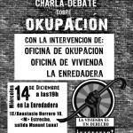 Miércoles 14 - Charla/Debate sobre Okupación