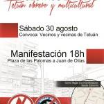"""Manifestación """"Fuera racistas de nuestros barrios"""""""