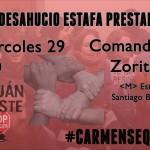 Stopdesahucio #CarmenSeQueda. Miércoles 29, 9:00, C/ Comandante Zorita