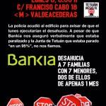 Stopdesahucio este lunes 8, 8:00 h, C/ Francisco Cabo